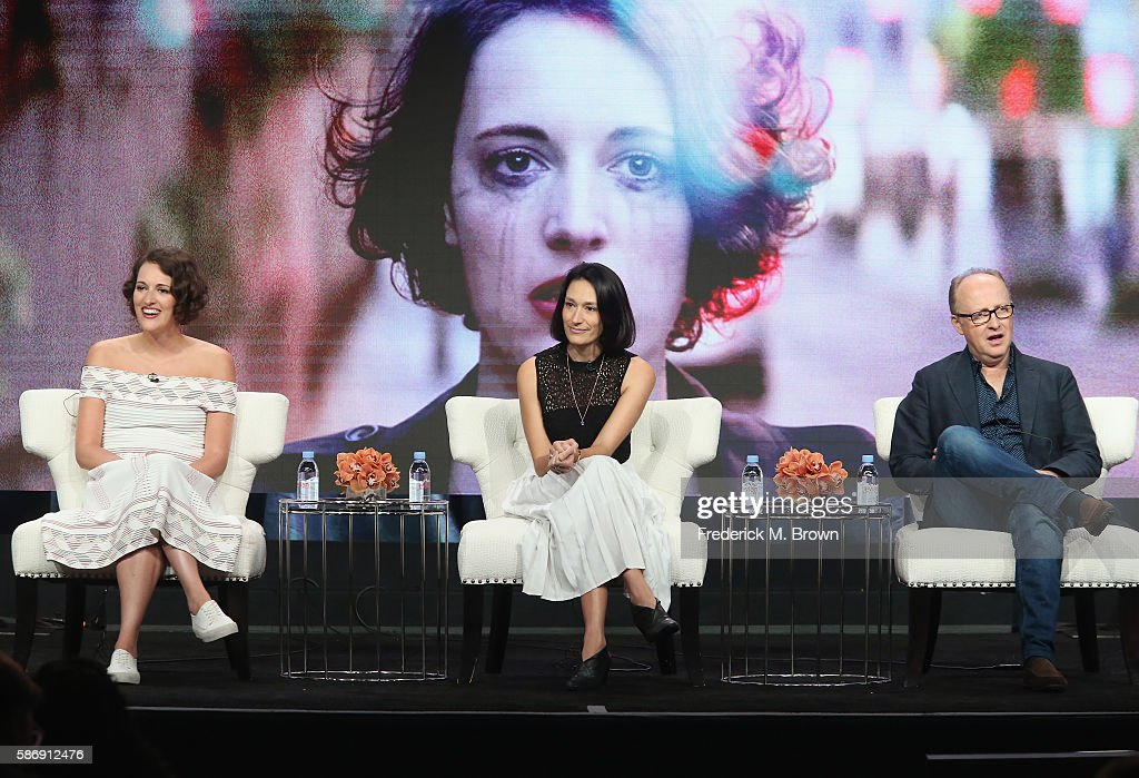 Creator/executive producer/actress Phoebe Waller-Bridge, actress Sian Clifford and director Harry Bradbeer speak onstage at the 'Fleabag' panel discussion during the Amazon portion of the 2016 Television Critics Association Summer Tour at The Beverly Hilton Hotel on August 7, 2016 in Beverly Hills, California.