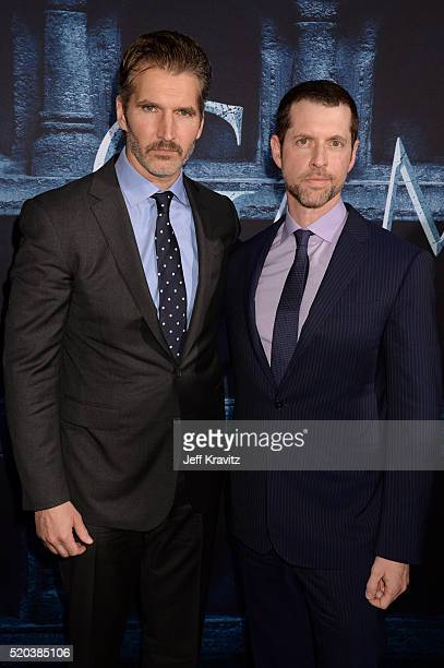 Creator/Executive Producers David Benioff and D B Weiss attend the premiere for the sixth season of HBO's Game Of Thrones at TCL Chinese Theatre on...