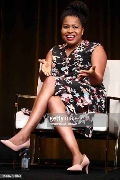 Creator/Executive Producer/Showrunner Courtney A Kemp of 'Power' speaks onstage during the STARZ portion of the Summer 2018 TCA Press Tour at The...