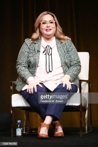 Creator/Executive Producer/Showrunner Tanya Saracho of 'Vida' speaks onstage during the STARZ portion of the Summer 2018 TCA Press Tour at The...