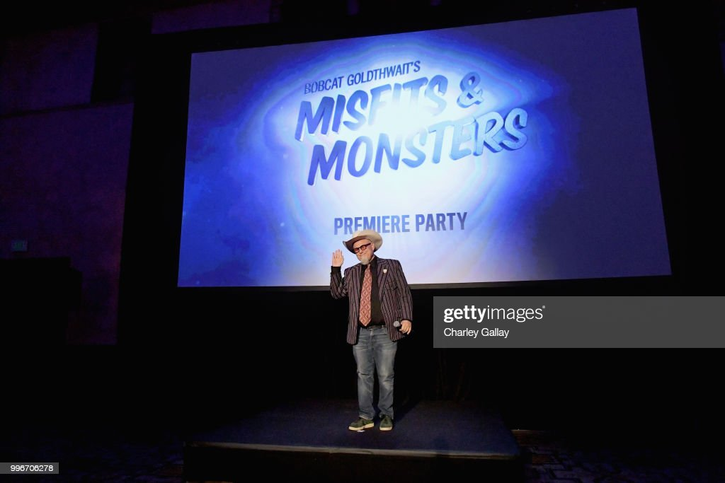 Creator/Executive Producer/Writer Bobcat Goldthwait speaks onstage during Bobcat Goldthwait's Misfits & Monsters Premiere Event at The Hollywood Roosevelt Hotel on July 11, 2018 in Hollywood, California. 392403.