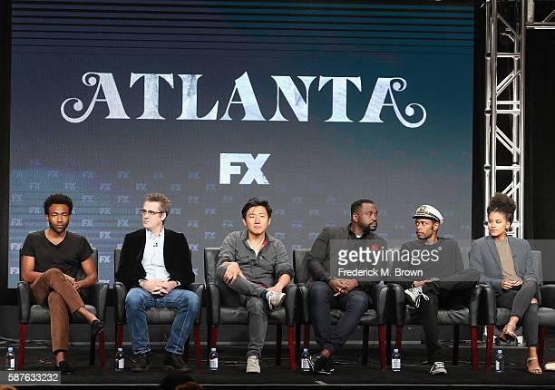 Creator/executive producer/writer/actor Donald Glover, writer/executive producer Paul Simms, producer/director Hiro Murai, actors Brian Tyree Henry,...