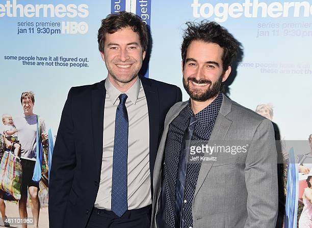 """Creator/executive producer/writer/actor Mark Duplass and creator/executive producer/writer Jay Duplass attend HBO's """"Togetherness"""" Los Angeles..."""