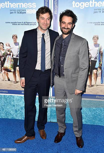 Creator/executive producer/writer/actor Mark Duplass and creator/executive producer/writer Jay Duplass attend arrive at the Premiere of HBO's...