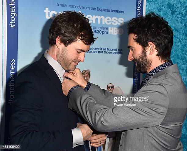 Creator/executive producer/writer/actor Mark Duplass R and creator/executive producer/writer Jay Duplass attend arrive at the Premiere of HBO's...