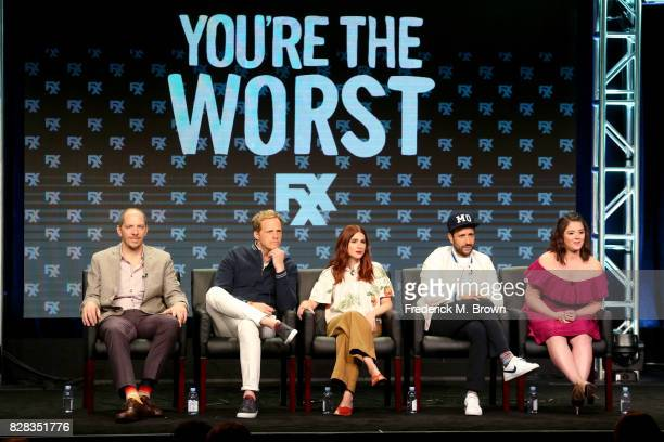 Creator/Executive Producer/Writer/Director Stephen Falk actors Chris Geere Aya Cash Desmin Borges and Kether Donohue of 'You're The Worst' speak...