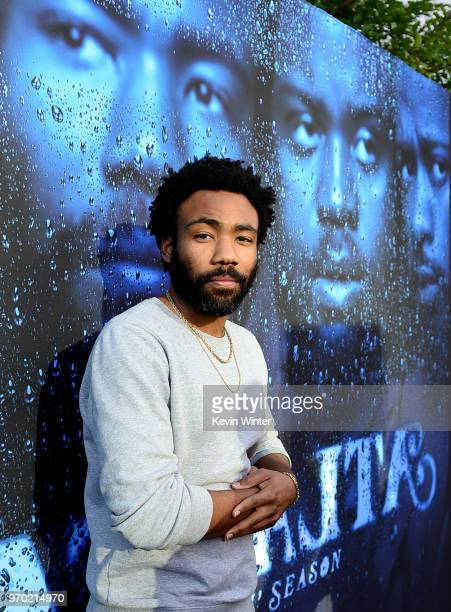 Creator/executive producer/writer/director/actor Donald Glover arrives at FX's Atlanta Robbin' Season FYC Event at the Saban Media Center on June 8...