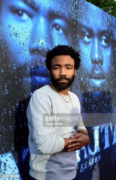 Creator/executive producer/writer/director/actor Donald Glover arrives at FX's 'Atlanta Robbin' Season' FYC Event at the Saban Media Center on June 8...