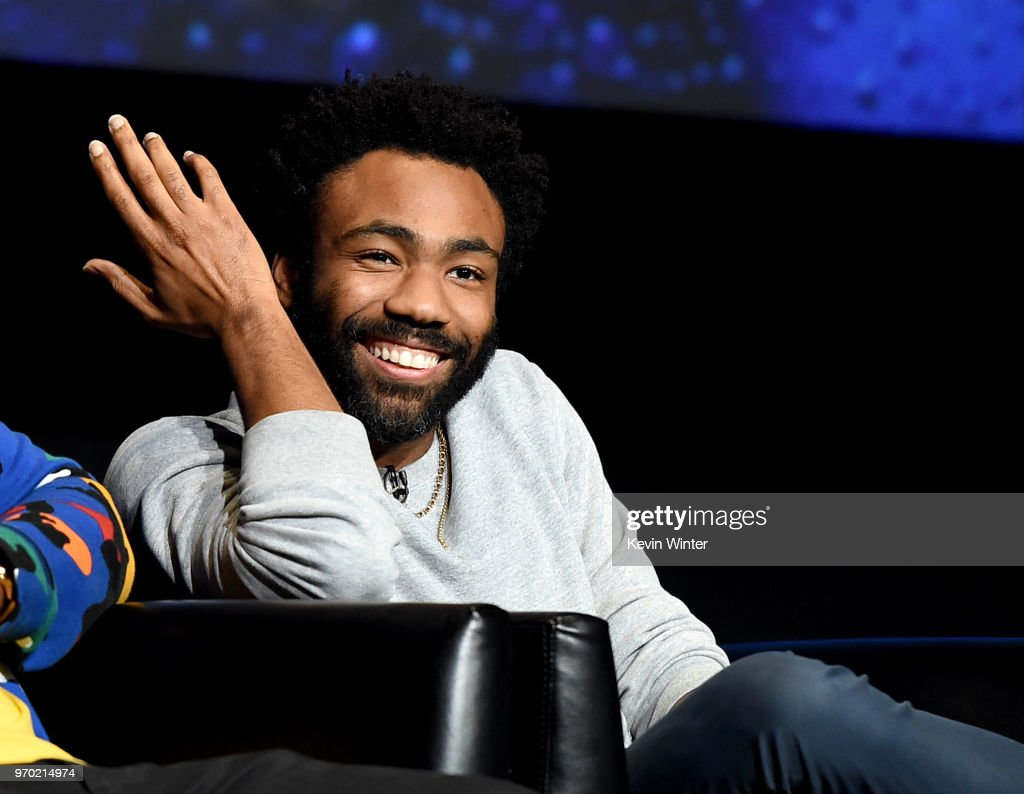 Creator/executive producer/writer/director/actor Donald Glover speaks onstage at FX's 'Atlanta Robbin' Season' FYC Event at the Saban Media Center on June 8, 2018 in North Hollywood, California.