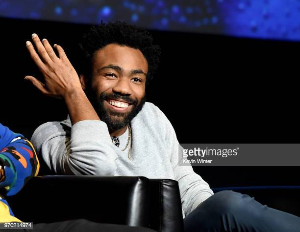 "Creator/executive producer/writer/director/actor Donald Glover speaks onstage at FX's ""Atlanta Robbin' Season"" FYC Event at the Saban Media Center on..."