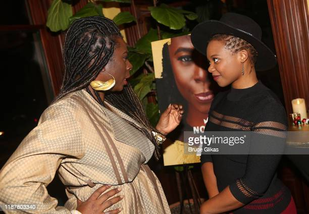 Creator/Host of North of 40 Podcast Maryam Myika Day and Actress Susan Heyward chat at the celebration for the North of 40 Podcast Launch at Dapper...