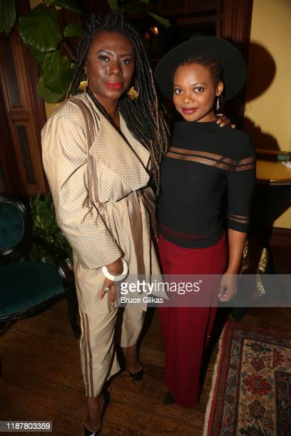 Creator/Host of North of 40 Podcast Maryam Myika Day and Actress Susan Heyward pose at the celebration for the North of 40 Podcast Launch at Dapper...
