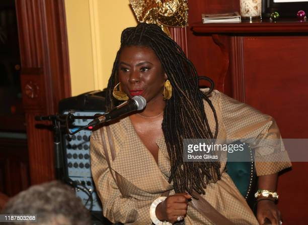 Creator/Host of North of 40 Podcast Maryam Myika Day during the podcast at the celebration for the North of 40 Podcast Launch at Dapper Dan Atelier...
