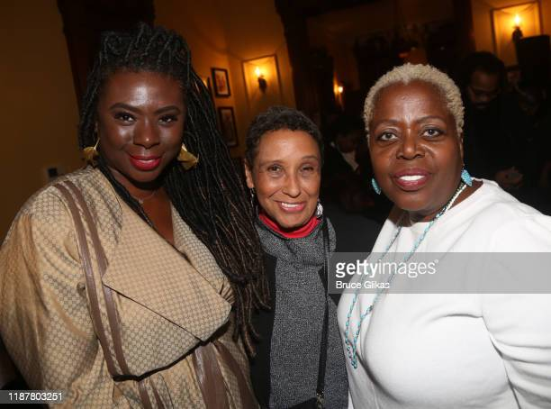 Creator/Host of North of 40 Podcast Maryam Myika Day Madeline McCray and Actress Lillias White pose at the celebration for the North of 40 Podcast...