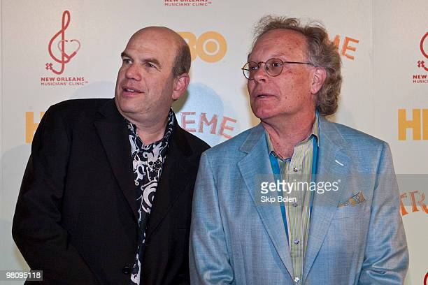 """Creators and Executive Producers David Simon and Eric Overmyer attend HBO's series """"Treme"""" New Orleans fundraiser at Generations Hall on March 27,..."""