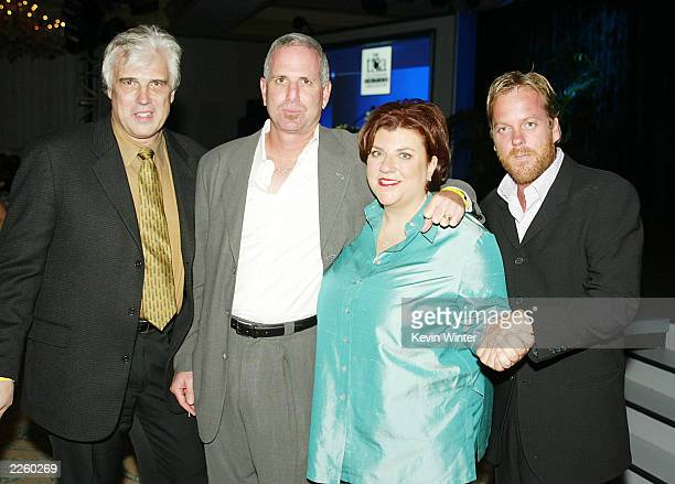 '24' creators Bob Cochran and Joel Surnow with Gail Berman President Entertainment FOX Broadcasting and '24' star Kiefer Sutherland at the 2002...