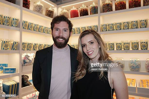 Creators Charles Rogers and SarahViolet Bliss attend the Search Party NYC Premiere at Metrograph on November 16 2016 in New York City 26022_021