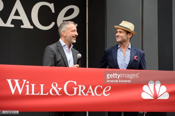Creators David Kohan and Max Mutchnick attend the 'Will Grace' start of production kick off event and ribbon cutting ceremony at Universal City Plaza...