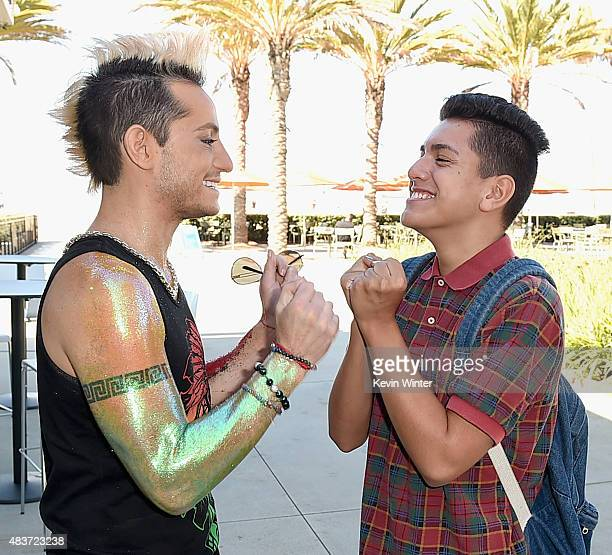Creators Frankie Grande and Lohanthony attend The 5th Annual Streamy Awards Nomination Celebration at Annenberg Community Beach House on August 12...