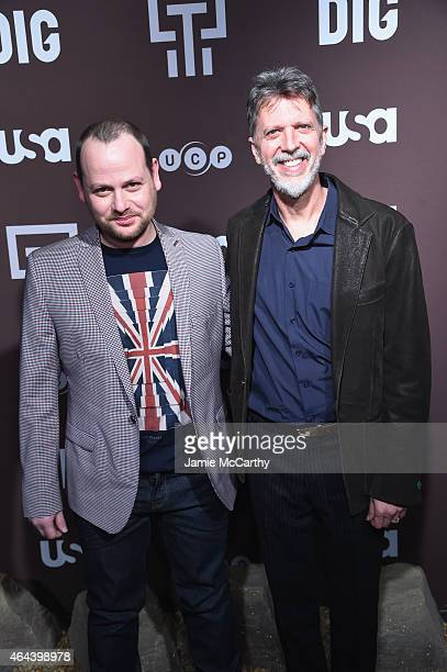 Creators Gideon Raff and Tim Kring attend Dig Series New York Premiere at Capitale on February 25 2015 in New York City