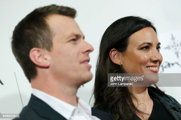 Creators Jonathan Nolan and Lisa Joy attend Westworld during the 2018 Tribeca Film Festival at BMCC Tribeca PAC on April 19 2018 in New York City