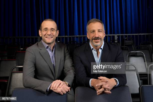 Creators Max Mutchnick left and David Kohan of NBC's 'Will Grace' for Los Angeles Times on September 7 2017 in Los Angeles California PUBLISHED IMAGE...