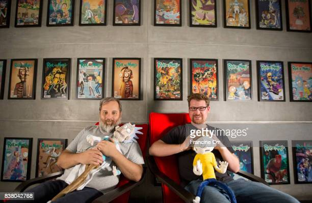 Creators of 'Rick and Morty' Dan Harmon Justin Roiland are photographed for Los Angeles Times on July 6 2017 in Los Angeles California PUBLISHED...