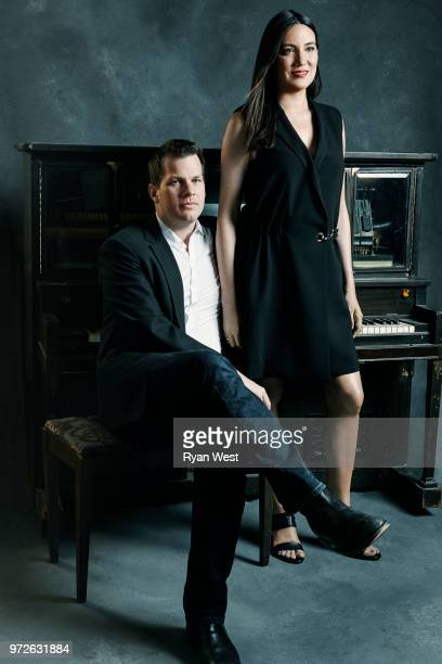 Creators of 'Westworld' Jonathan Nolan and Lisa Joy are photographed for Emmy Magazine on March 30 2017 in Burbank California PUBLISHED IMAGE