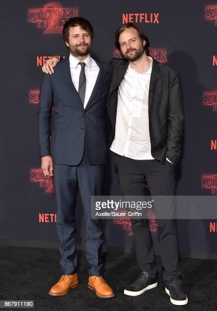 Creators Ross Duffer and Matt Duffer arrive at the premiere of Netflix's 'Stranger Things' Season 2 at Regency Bruin Theatre on October 26 2017 in...