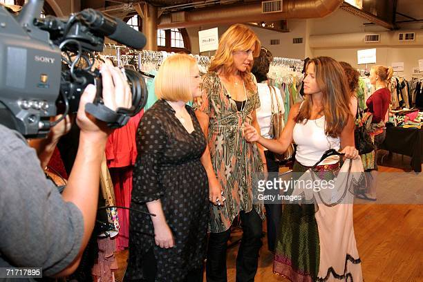 Creators Shelli Anne Couch and Kate Nobelius being interviewed by Good Morning America host Marisol Castro at the Billion Dollar Babes Shopping Event...