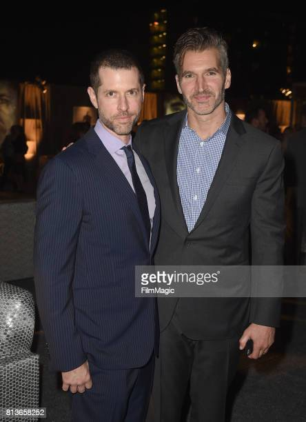 "Creators/Executive Producers Dan Weiss and David Benioff at the Los Angeles Premiere for the seventh season of HBO's ""Game Of Thrones"" at Walt Disney..."
