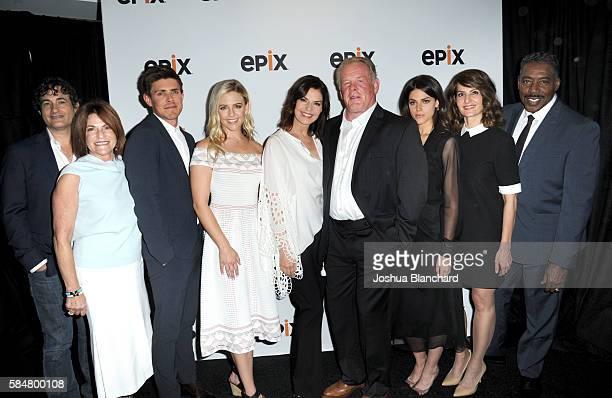 Creator/showrunner Joshua Michael Stern of Graves Lionsgate TV president Sandra Stern actor Chris Lowell actress Helene Yorke actress Sela Ward actor...