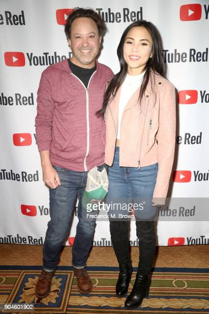 Creator/writer Jason Ubaldi and actor/executive producer Anna Akana of 'Youth Consequences' attend the YouTube portion of the 2018 Winter Television...
