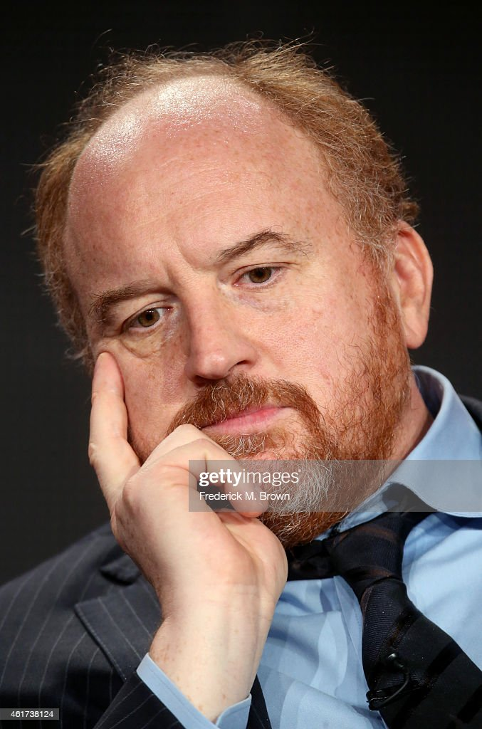 Creator/writer/actor Louis C.K. speaks onstage during the 'Louie' panel discussion at the FX Networks portion of the Television Critics Association press tour at Langham Hotel on January 18, 2015 in Pasadena, California.
