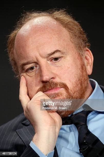 Creator/writer/actor Louis CK speaks onstage during the 'Louie' panel discussion at the FX Networks portion of the Television Critics Association...