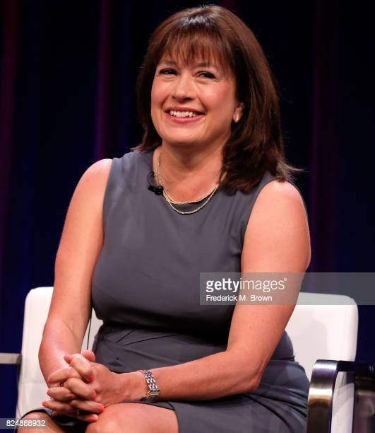 Creator/writer/executive producer Daisy Goodwin of 'Victoria' speaks onstage during the PBS portion of the 2017 Summer Television Critics Association...