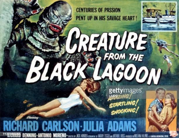 Creature From The Black Lagoon poster Julia Adams Richard Carlson 1954