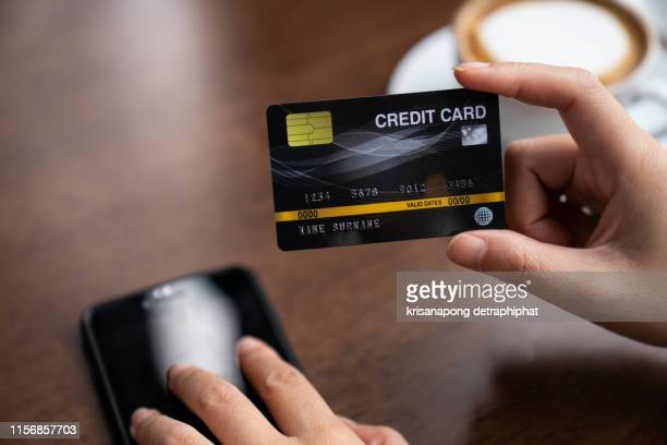credit card  concept,credit card payment - money printer stock pictures, royalty-free photos & images