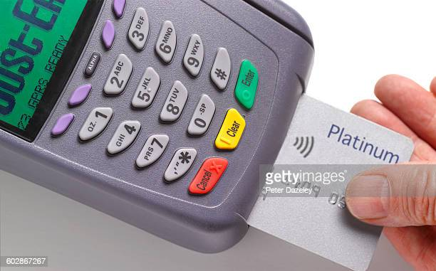 Credit card in chip and pin reader