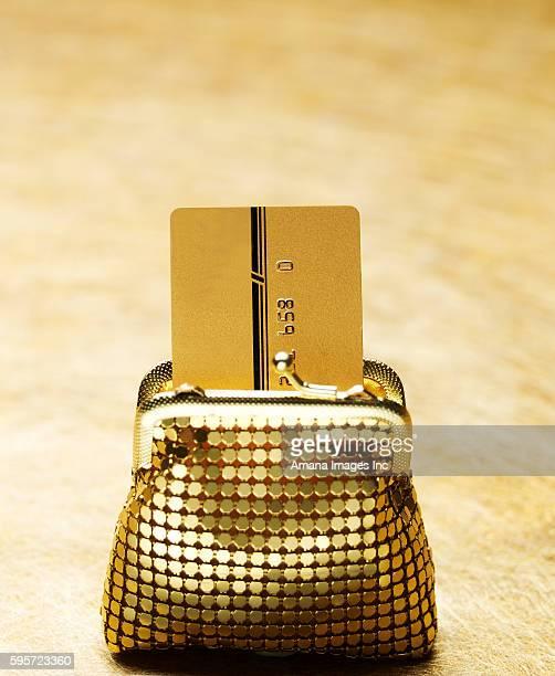 Credit Card in Golden Purse