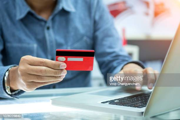Credit card online shopping concept