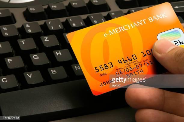 Kreditkartenzahlung-Fantasy Bank und Design (orange