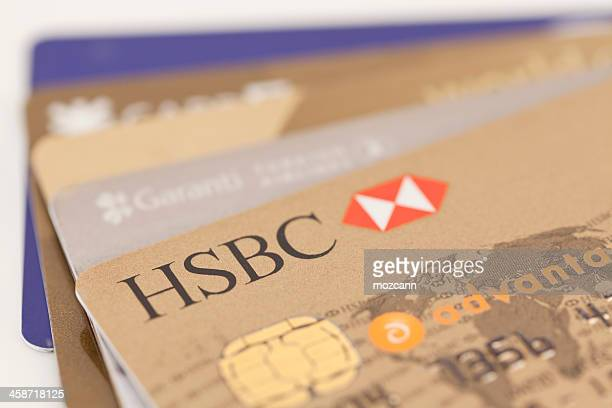 credit card - hsbc stock pictures, royalty-free photos & images