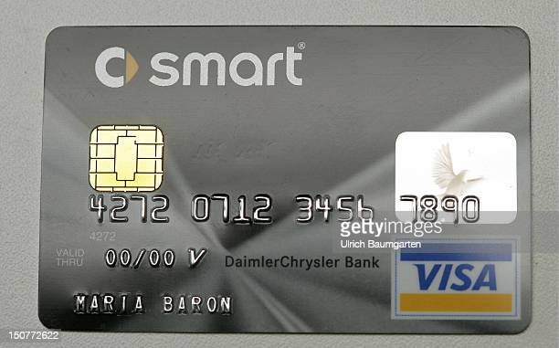 GERMANY Credit card Smart Card Visa of the DaimlerChrysler Bank with EMV Chip which substitutes the magnetic strip