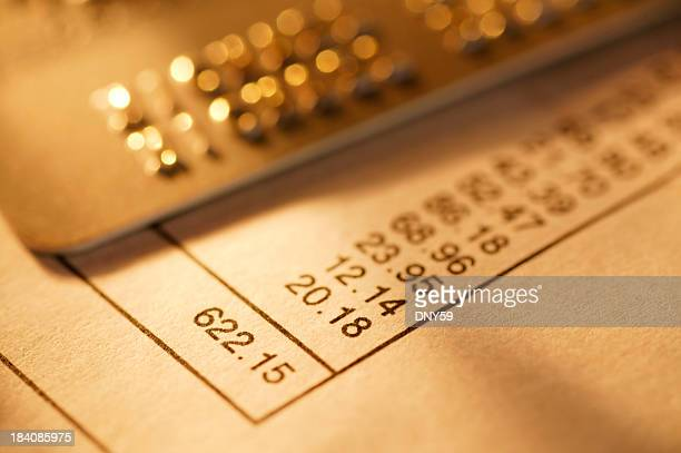credit card statement - paid stock pictures, royalty-free photos & images