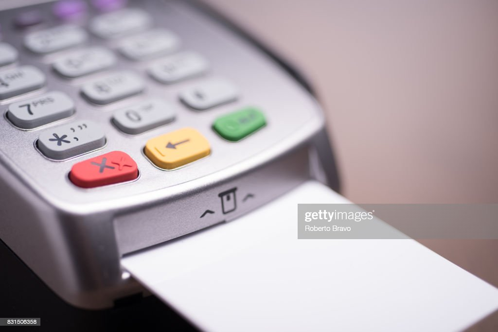 Credit Card Terminal Payment Stock Photo - Getty Images