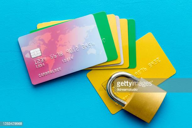 credit card with security lock desk