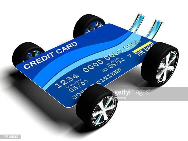 Carte de crédit avec roues