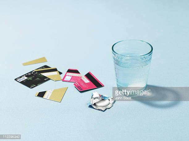 Credit cards and headache tablet