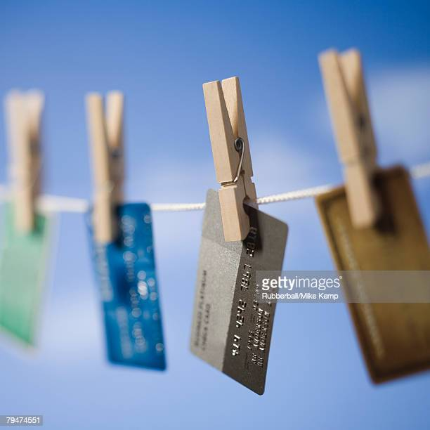 Credit cards hung out to dry